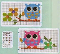 Baykuş kanavice # Owl crossstitch patterns Cross Stitch Alphabet Patterns, Cross Stitch Owl, Cross Stitch Animals, Fuse Bead Patterns, Beading Patterns, Embroidery Patterns, Owl Quilts, Le Point, Plastic Canvas Patterns