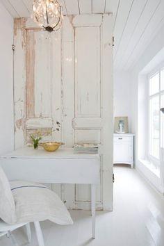 Old Door as Room Divider Home Improvement Wood & Organic