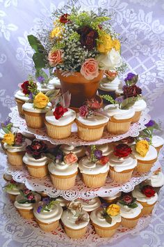 Wedding cupcake towers is nice choice for special occasion like wedding