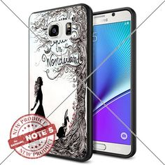 New Samsung Galaxy Note5 Case Alice in Wonderland Art Drawing Smartphone Case Covers Collector Samsung TPU Rubber Case Black