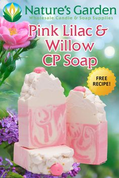 Free recipe to make cold process soap with our Pink Lilac and Willow fragrance oil