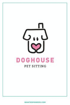 Illustrated Dog House Logo | Pet SItting Logo | Cute Dog Illustration | Pet Store Branding | Graphic Design | Pre-made Logo For Sale | Small Business Logo