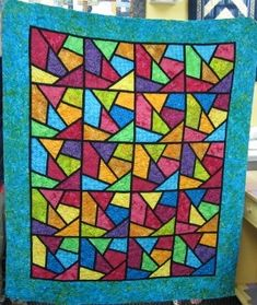 Stained Glass Quilt made from all batiks.