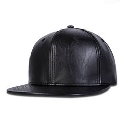 Leather snap back Snap Backs, Buy 1, Leather Fashion, Baseball Cap, Fashion Brand, Riding Helmets, Black Leather, Charmed, Brand New