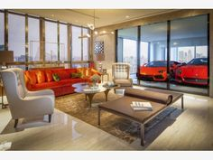 Integrated car garage - Better than a tv? - Home and Garden Design Ideas