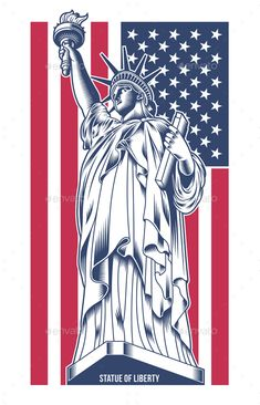 Buy Statue of Liberty Vector Illustration by vectorfreak on GraphicRiver. fully editable statue of Liberty vector illustration, image suitable for emblem, insignia, design element or graphic . Vintage Typography, Graphic Design Typography, Statue Of Liberty Tattoo, Liberty Statue, Liberty Wallpaper, Liberty Logo, American Wallpaper, Tableau Pop Art, Patriotic Tattoos