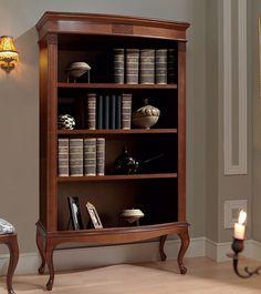 Библиотека (книжный шкаф) Panamar модель 825 плюс нижний модуль 865. Варианты цвета: орех (на фото), или вишня.