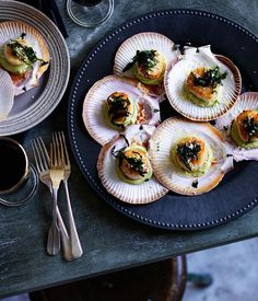 Here are 14 fresh scallop recipes from a hearty red mullet bouillabaisse to grilled pancetta scallop canapés and a Vietnamese glass noodle soup.