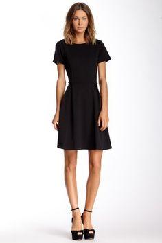 Bobeau Textured Fit & Flare Lady Like Dress