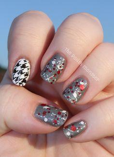 Crimson Tide Pride nails