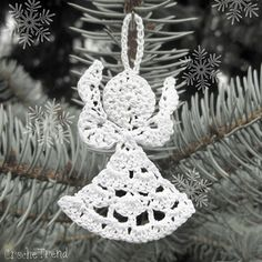 Little Angel Christmas Ornament ~ free pattern ᛡ