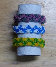 "Rainbow Loom Bracelet - Original Design - ""THE CAT'S MEOW"" (3Af)"