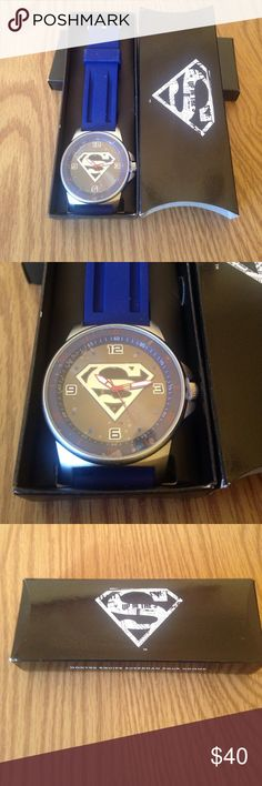 Men's Team Superman Watch NEW New From Avon Men's Super Man watch never out of the box. Avon Accessories Watches