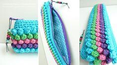 pencil case or makeup even? Crochet Pencil Case, Pencil Case Pouch, Crochet Pouch, Crochet Purses, Crochet Gifts, Cute Crochet, Crochet Hooks, Knit Crochet, Pencil Cases
