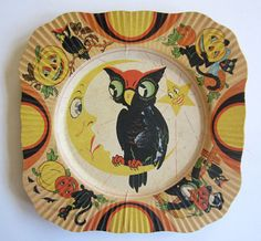 Paper party plate made in 1930s by BEACH & ARTHUR, INC. USA