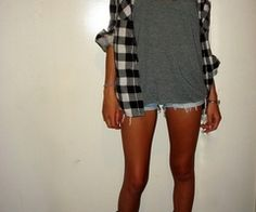 plaid and shorts.
