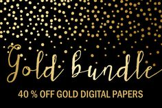 40% OFF Gold Bundle: Gold Papers by GraphikCliparts on Creative Market