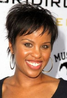 Pixie cut on Afro hairstyle is a very good idea for those looking for a new look. Add volume at the back for a sexier look, if your face shape is long it is best to tone down on the volume at the top because it might make your face look longer. It is also a great idea to work out this sexy fringe to hide a wide forehead or receding hairline.