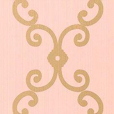 Thibaut Gatehouse - London Trellis - Wallpaper - Metallic on Aqua Trellis Wallpaper, Wall Wallpaper, French Pattern, Dream Rooms, Designer Wallpaper, Girls Bedroom, Pink And Gold, Paint Colors, Sweet Home