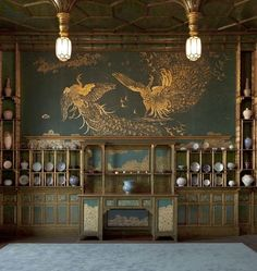 james whistler's peacock room detail, would be cool to paint a