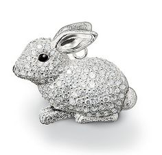 Thomas Sabo Crystal Bunny Rabbit Pendant in 925 Sterling Silver with cubic zirconia. Kids Jewelry, Animal Jewelry, Charm Jewelry, Jewelry Art, Jewellery, Thomas Sabo, Rabbit Rabbit Rabbit, Diamond Pendant Necklace, Funny Animal Pictures