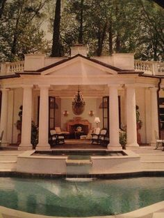 A swimming pool is the ultimate backyard amenity. … When pools include water features, unique lighting, speciality materials and design features Luxury Swimming Pools, Dream Pools, Swimming Pool Designs, Fresco, Building A Swimming Pool, Pool Cabana, Outdoor Kitchen Design, Pool Houses, Decoration