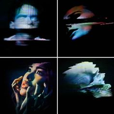 """Artist Rob Sheridan created a series of visuals for the band How to Destroy Angels' Welcome Oblivion and An omen EP, saying """"these images were created by disrupting signals through analog tape and display equipment, not with Photoshop effects."""""""