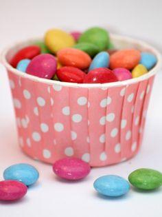 Muffin Cupcake Förmchen Hochzeit Punkte rosa