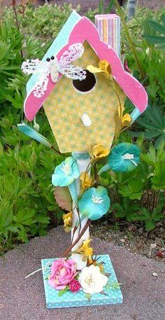 really cute birdhouse idea