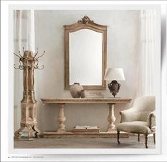Restoration Hardware Oak Console #entryway #furniture