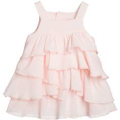 Baby girls gorgeous, pale pink, cotton crêpe dress by Chloé Baby Girl Fashion, Kids Fashion, Chloe Kids, Toddler Girl, Baby Girls, Baby Kids Clothes, Stylish Kids, Ruffle Dress, New Dress