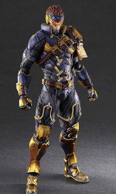 Play-Arts Kai Marvel Variant Cyclops Figure Official Images From Square Enix