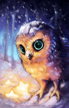 He's name is Fenyli my owl char. Owl Cartoon, Cute Cartoon Animals, Cute Baby Animals, Cute Animal Drawings, Cute Drawings, Cute Owls Wallpaper, Owl Artwork, Owl Pictures, Beautiful Owl