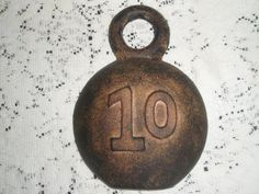Vintage Cast Iron Weight Counter  weight. by SocialmarysTreasures