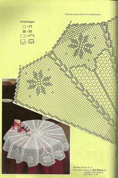"Photo from album ""скатерти,салфетки"" on Yandex. Crochet Thread Patterns, Crochet Tablecloth Pattern, Doily Patterns, Crochet Designs, Crochet Doilies, Stitch Patterns, Mantel Redondo, Filet Crochet Charts, Fillet Crochet"