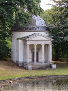 Temple in the garden at Chiswick House, London.