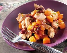 Dinde à la citrouille et noix de muscade Tefal Actifry, Potato Salad, Potatoes, Chicken, Meat, Ethnic Recipes, Food, Recipes, Turkey Bird