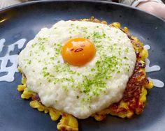 We love Gudetama so much, we turn him into adorable okonomiyaki pancakes and eat him!