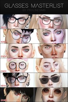 Sims 4 CC's - The Best: Glasses by Pralinesims