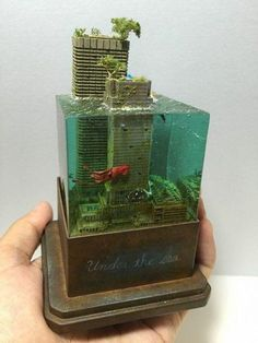 Super Punch: Flooded city diorama