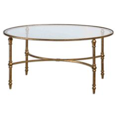Accent Furniture Vitya Glass Coffee Table by Uttermost at Becker Furniture World Oval Glass Coffee Table, Iron Coffee Table, Glass Tables, Accent Furniture, Table Furniture, Office Furniture, Furniture Ideas, House Furniture, Modern Furniture