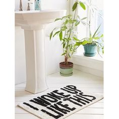 CLICK TO SHOP bath mat #bathroomaccessorie #quote  https://www.theshopally.com/sophie-etchart/20160429/click-to-shop-bath-mat-bathroomaccessorie-quote