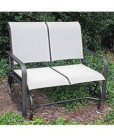 Jack Post Country Garden Natural Double Patio Glider With Trays CG 12Z At The