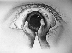 The image above has a wicked visual effect. It is one of the many bizarre pencil drawings of Artwork Link via Brandi Crist. Pencil Art, Pencil Drawings, Drawing Sketches, Cool Drawings, Eye Sketch, Drawing Eyes, Drawings Of Hands, Sketching, Wow Art