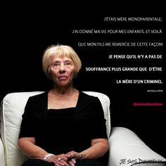 Monique Lépine, mère de Marc Lépine, tueur de la Polytechnique.  www.jesuisdeuxieme.com Facon, Thinking About You, The Sea