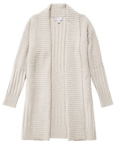 Merino Cashmere Textured Knitted Coat