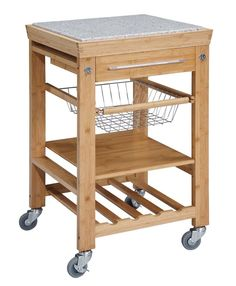 Linon Kitchen Cart with Granite Top & Reviews | Wayfair
