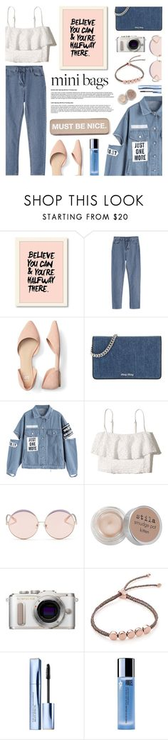 """Mini Bags"" by madeinmalaysia ❤ liked on Polyvore featuring Miu Miu, Hollister Co., N°21, Stila, PL8, Monica Vinader, John Lewis, Thierry Mugler, RIPNDIP and minibags"