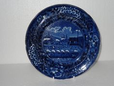 OnlineGalleries.com - Staffordshire Pottery | Plate | The Landing of General Lafayette at Castle Garden New York 16 August 1824