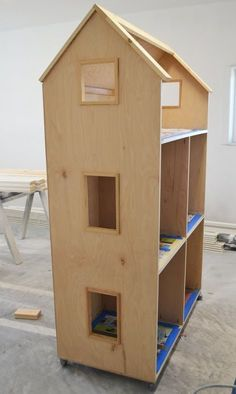 Impressing american girl dollhouse diy ana white three story or 18 diy projects American Girl Furniture, Girls Furniture, Diy Furniture Plans, Barbie Furniture, Modern Furniture, Furniture Design, Woodworking Assembly Table, Woodworking Plans, Woodworking Projects